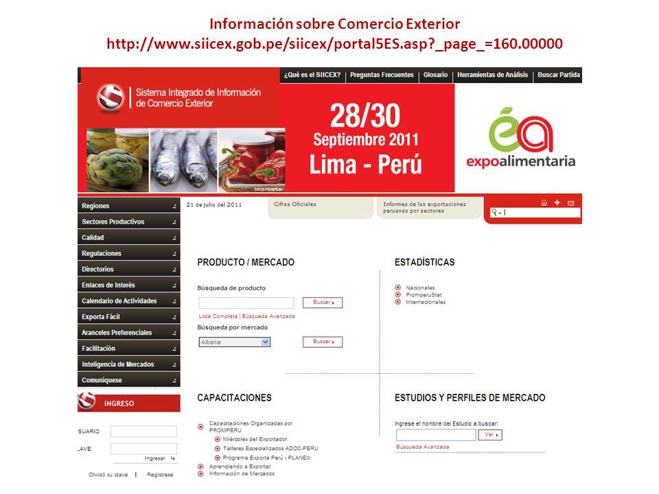 Información sobre Comercio Exterior http://www. siicex. gob