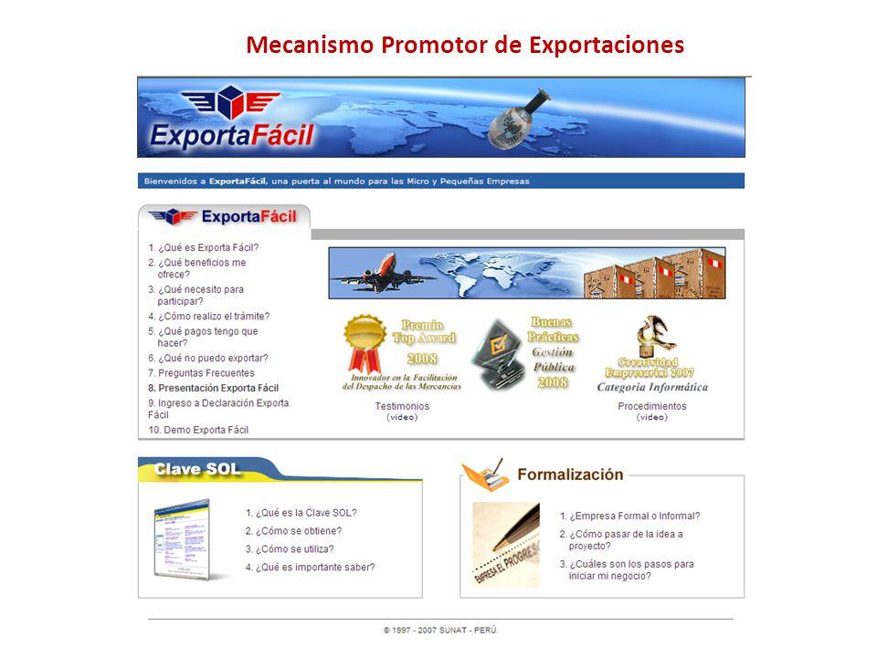 Mecanismo Promotor de Exportaciones
