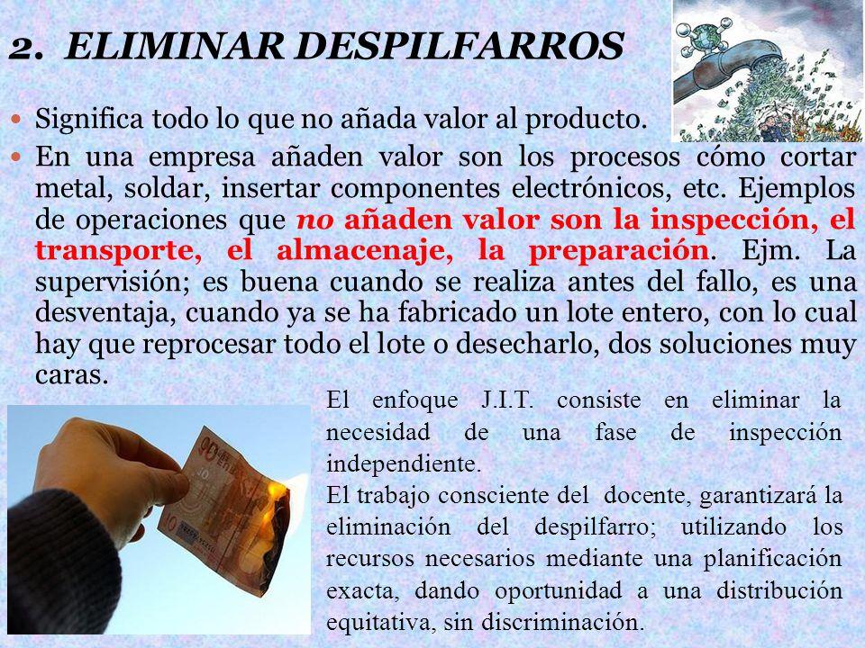 2. ELIMINAR DESPILFARROS