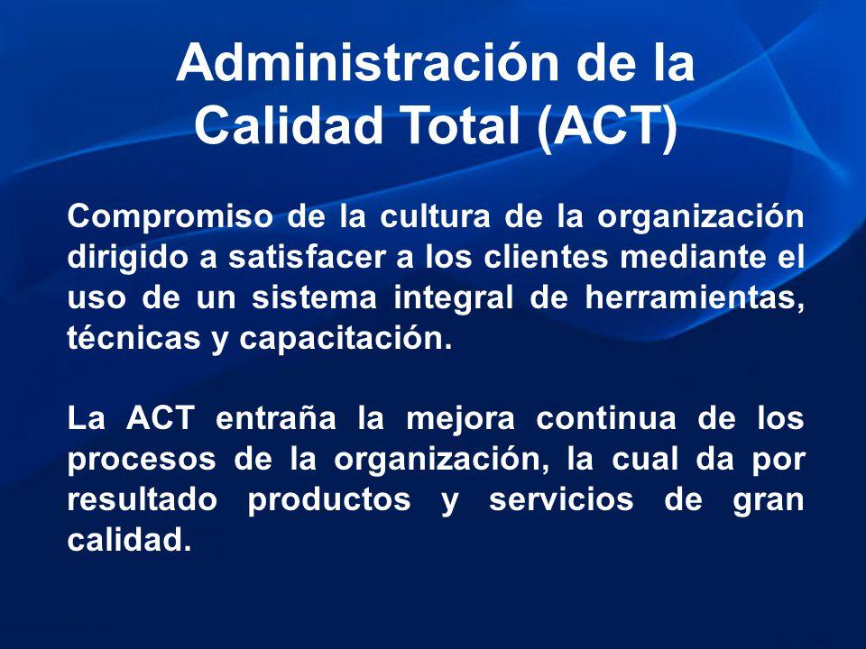 Administración de la Calidad Total (ACT)