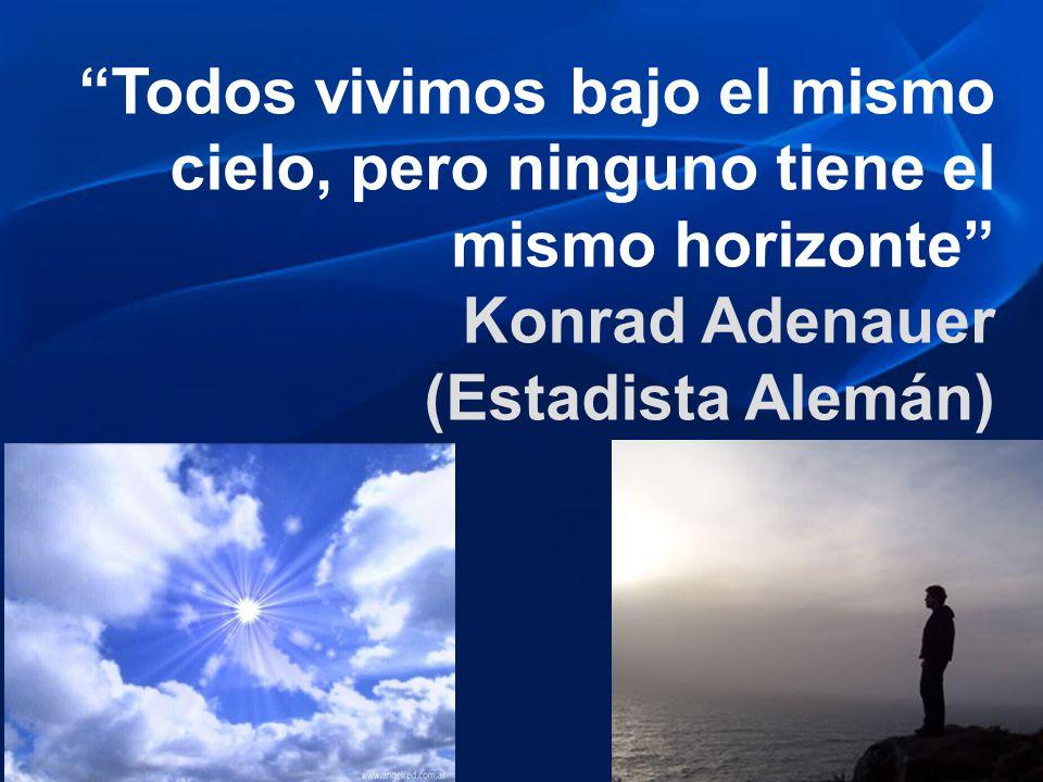 Todos vivimos bajo el mismo cielo, pero ninguno tiene el mismo horizonte