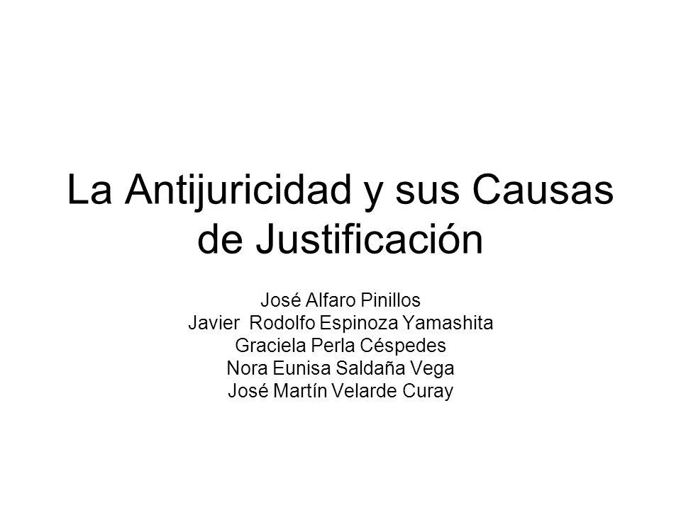 La Antijuricidad y sus Causas de Justificación