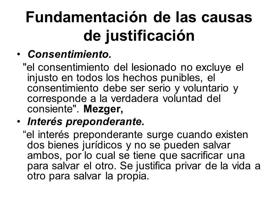 Fundamentación de las causas de justificación