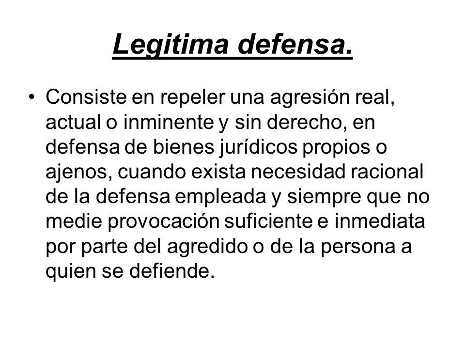 Legitima defensa.