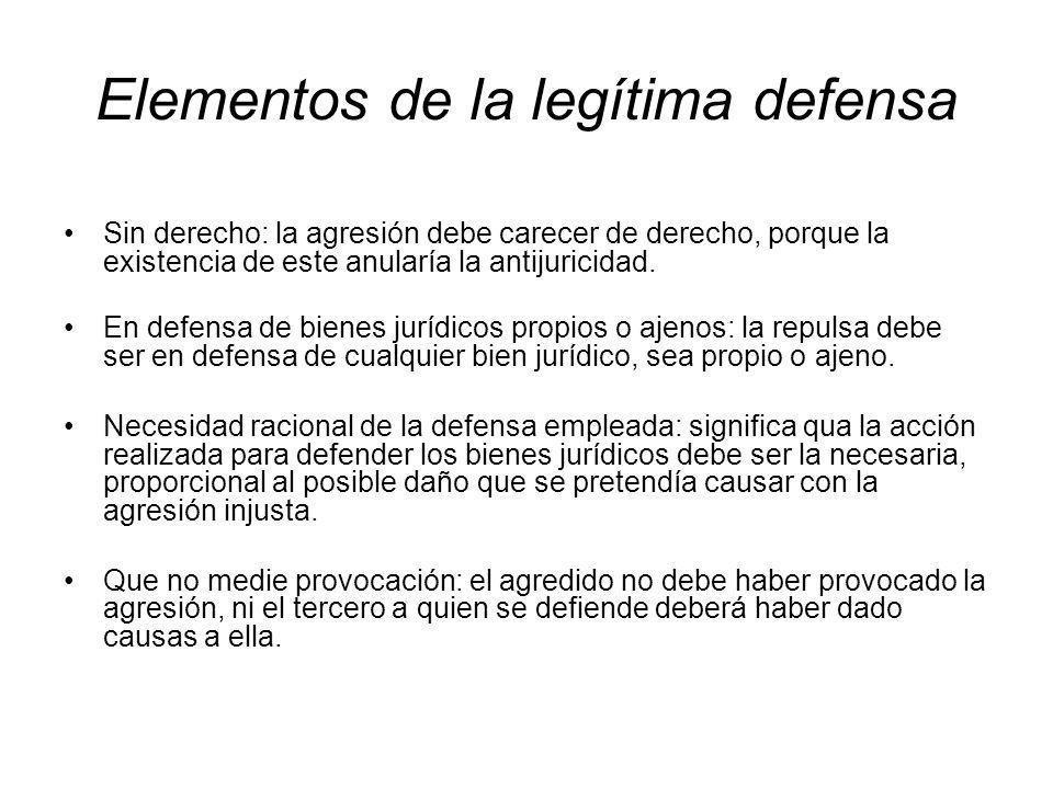 Elementos de la legítima defensa
