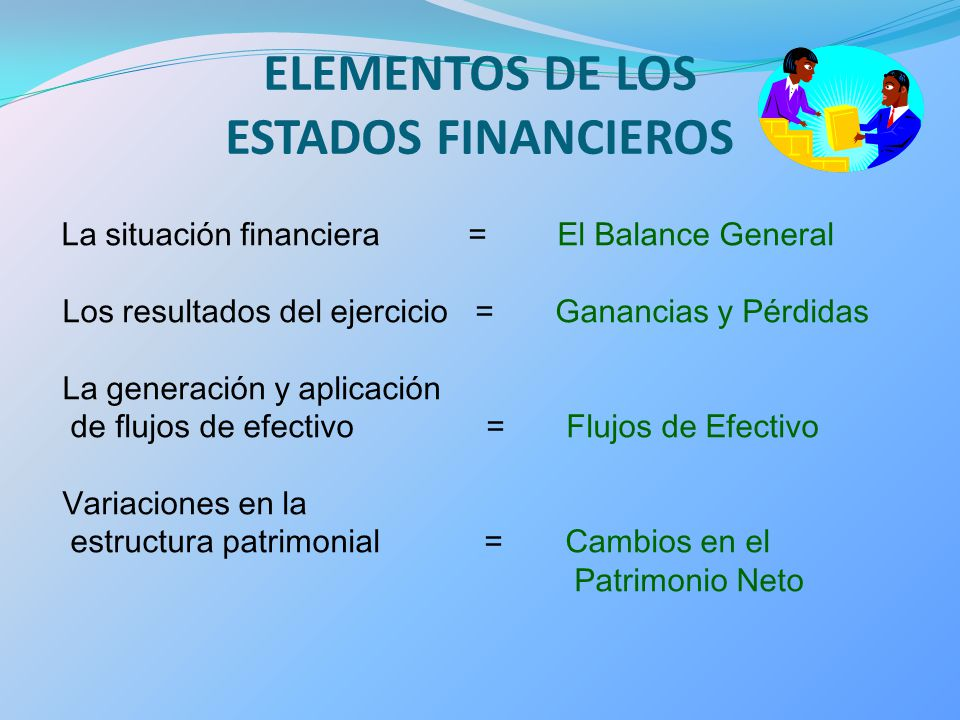 ELEMENTOS DE LOS ESTADOS FINANCIEROS