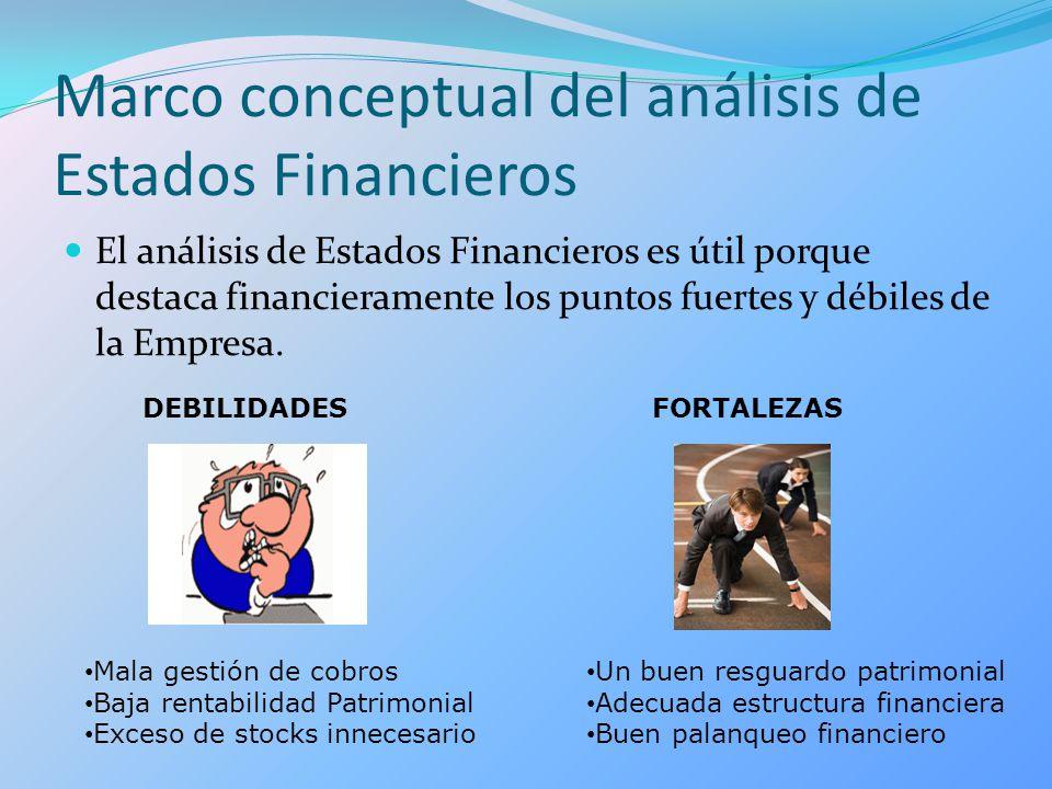 Marco conceptual del análisis de Estados Financieros