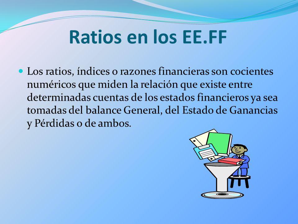 Ratios en los EE.FF