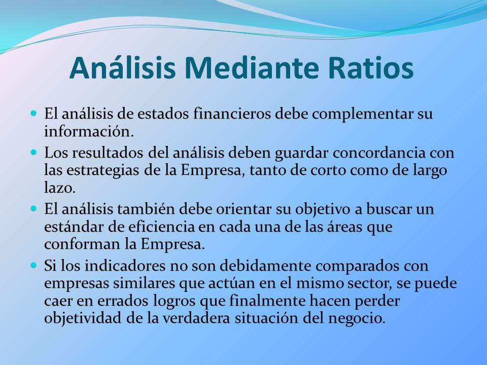 Análisis Mediante Ratios