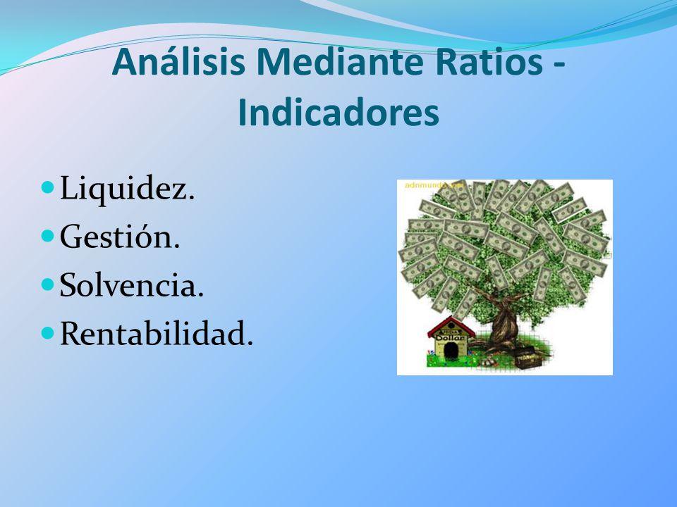 Análisis Mediante Ratios - Indicadores