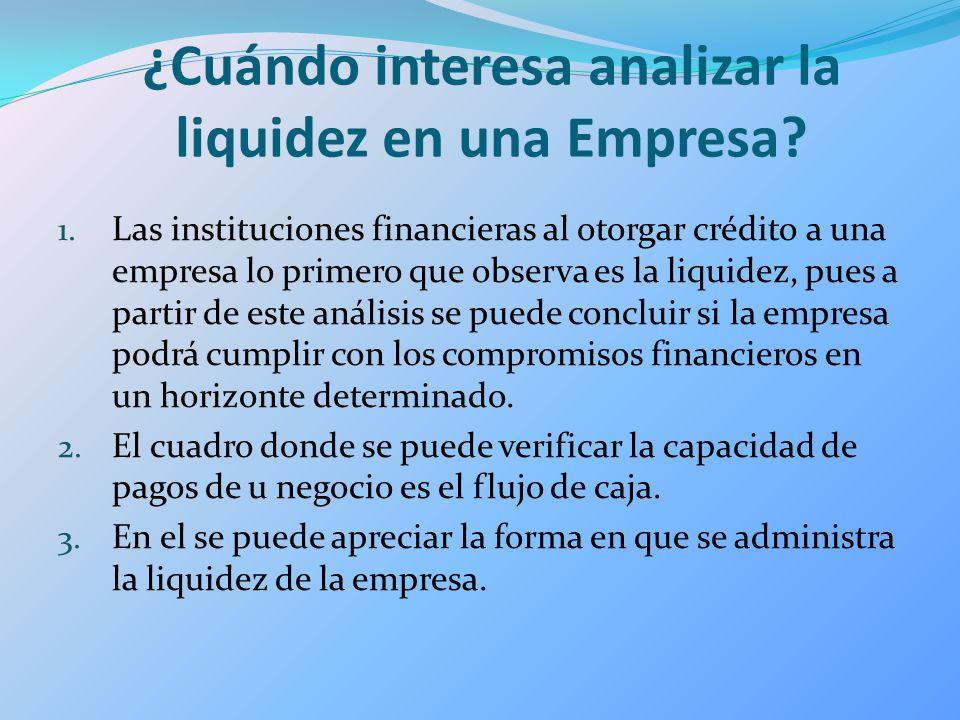 ¿Cuándo interesa analizar la liquidez en una Empresa