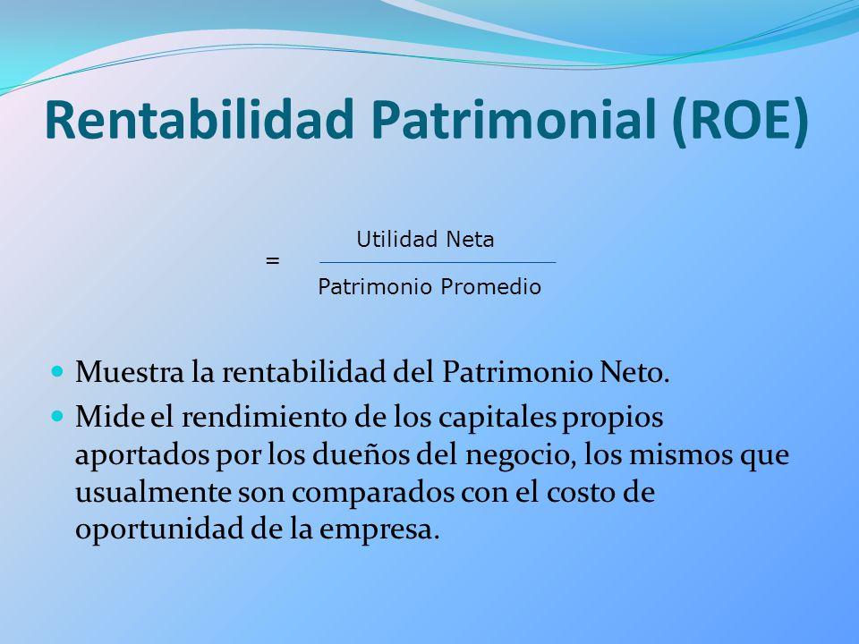 Rentabilidad Patrimonial (ROE)