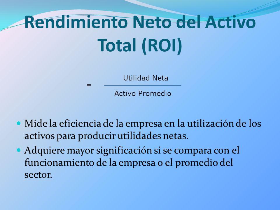Rendimiento Neto del Activo Total (ROI)