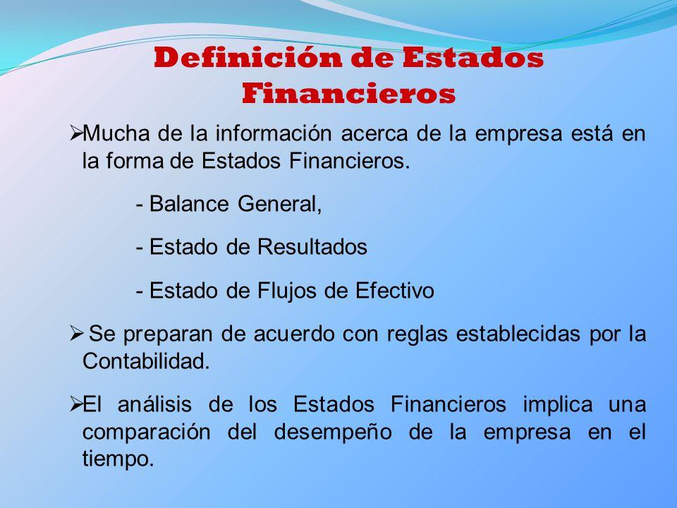 Definición de Estados Financieros