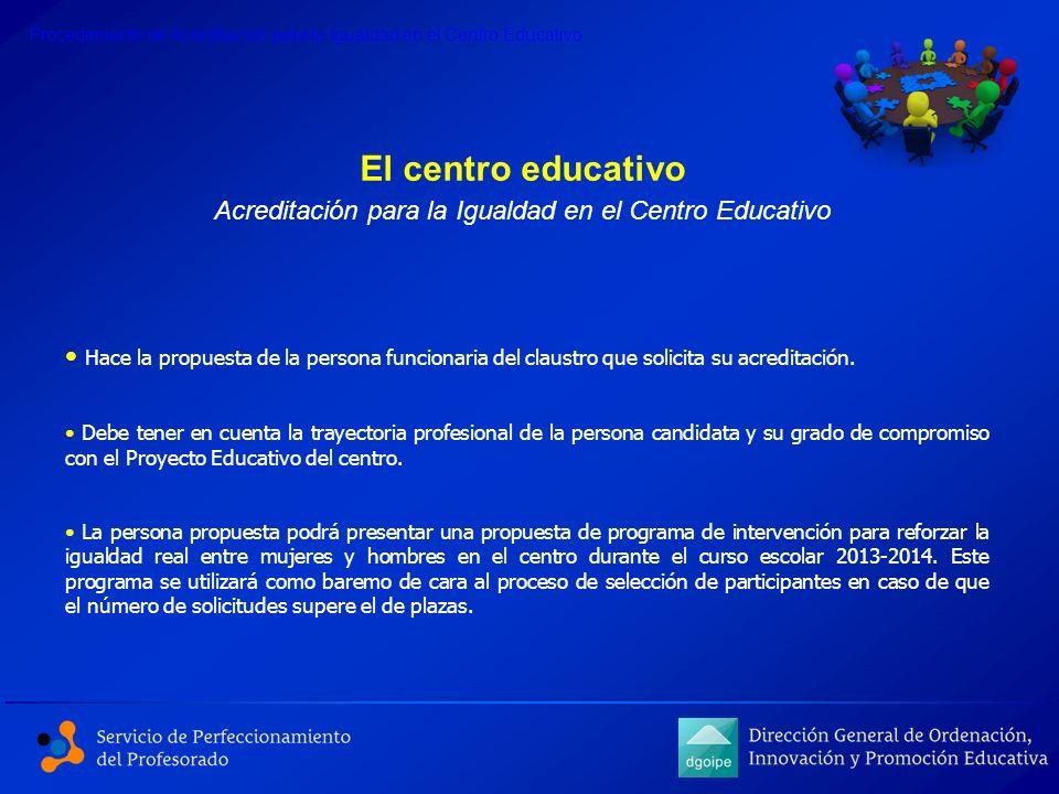 Acreditación para la Igualdad en el Centro Educativo