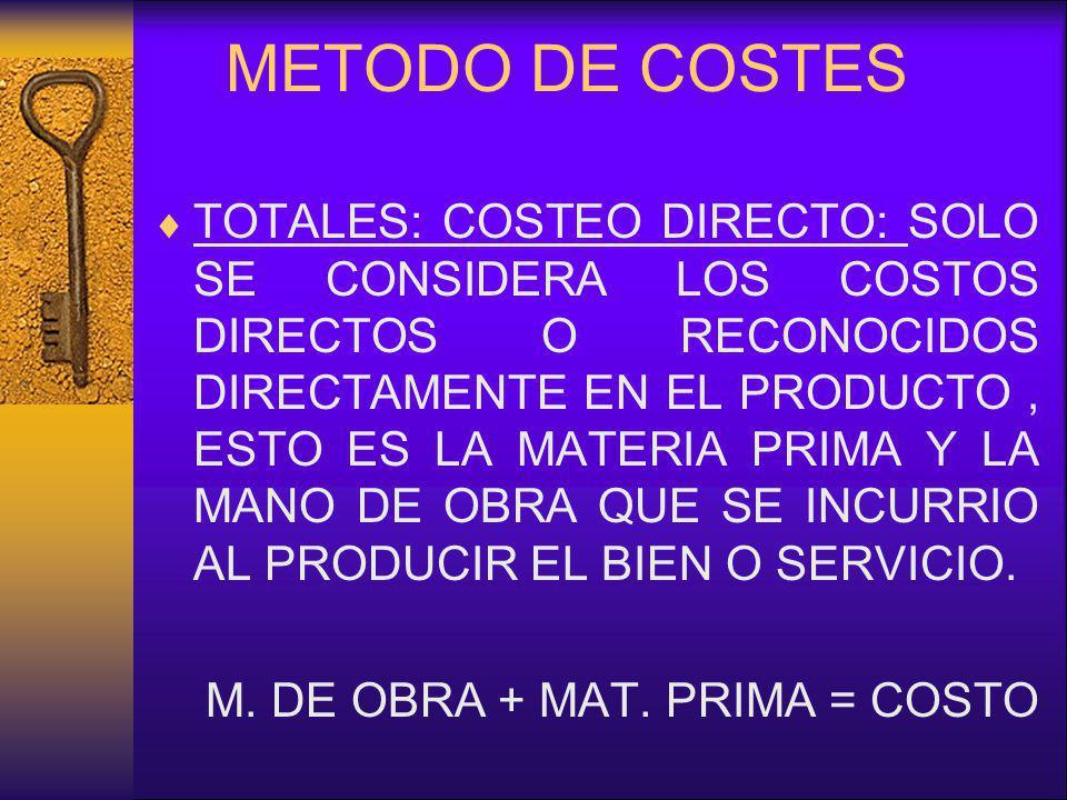METODO DE COSTES