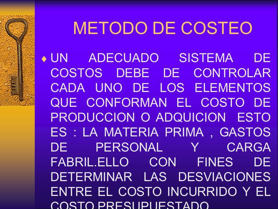 METODO DE COSTEO