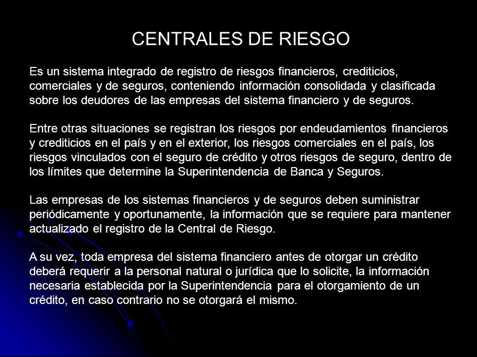 CENTRALES DE RIESGO