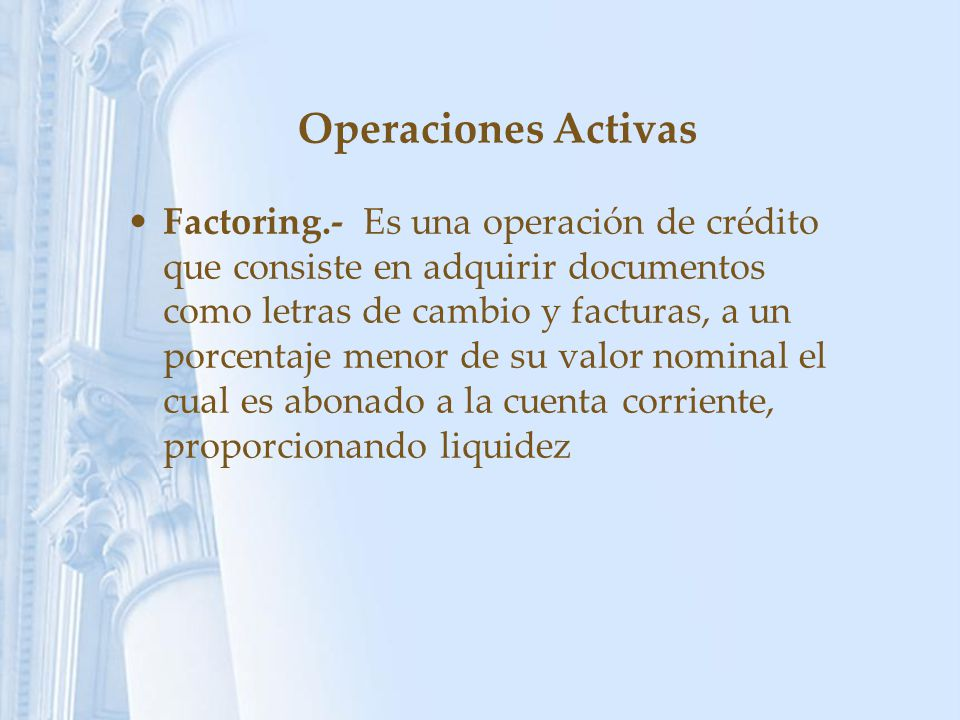 Operaciones Activas