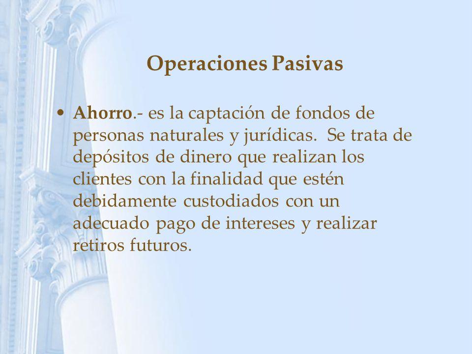 Operaciones Pasivas