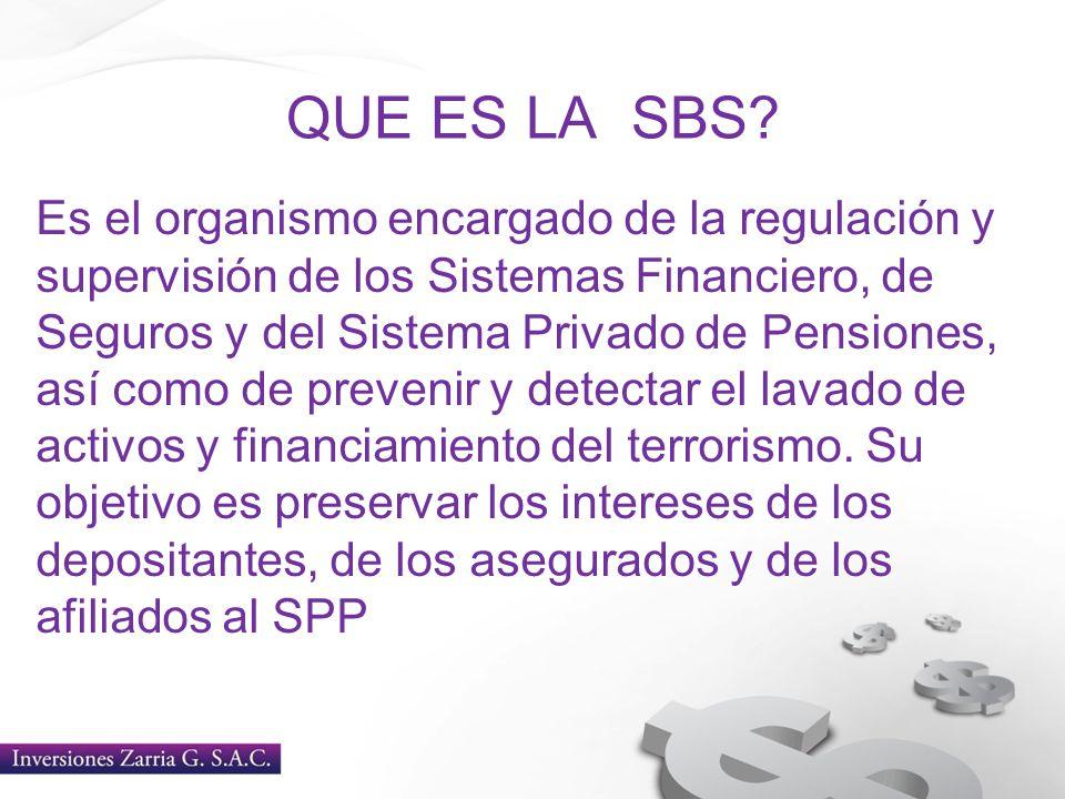 QUE ES LA SBS