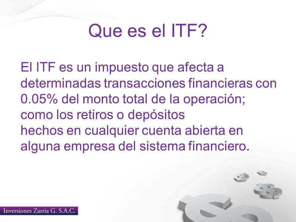 Que es el ITF