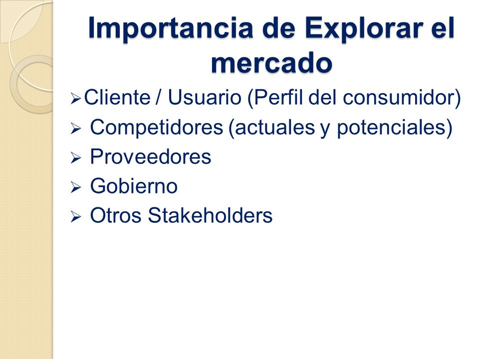 Importancia de Explorar el mercado