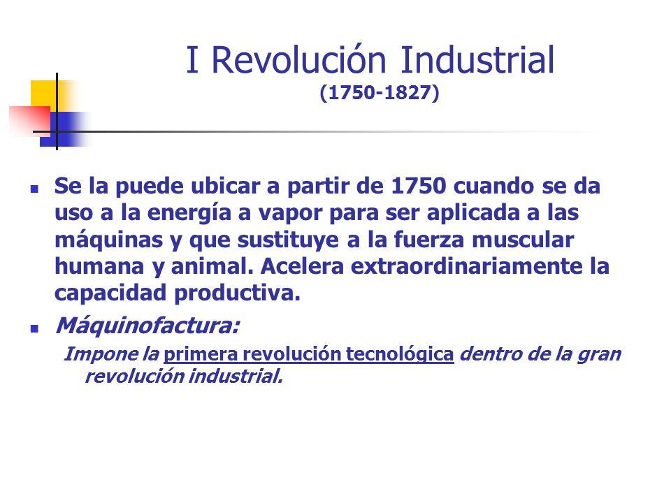I Revolución Industrial (1750-1827)