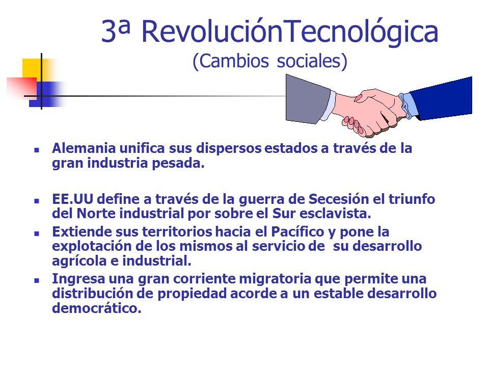 3ª RevoluciónTecnológica (Cambios sociales)