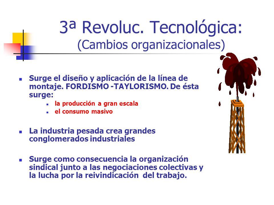 3ª Revoluc. Tecnológica: (Cambios organizacionales)