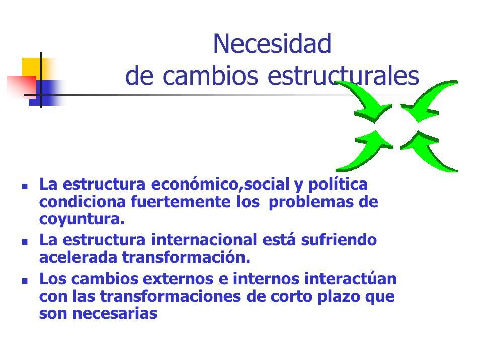 Necesidad de cambios estructurales