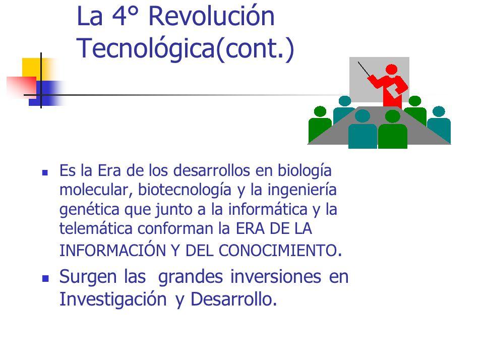 La 4° Revolución Tecnológica(cont.)