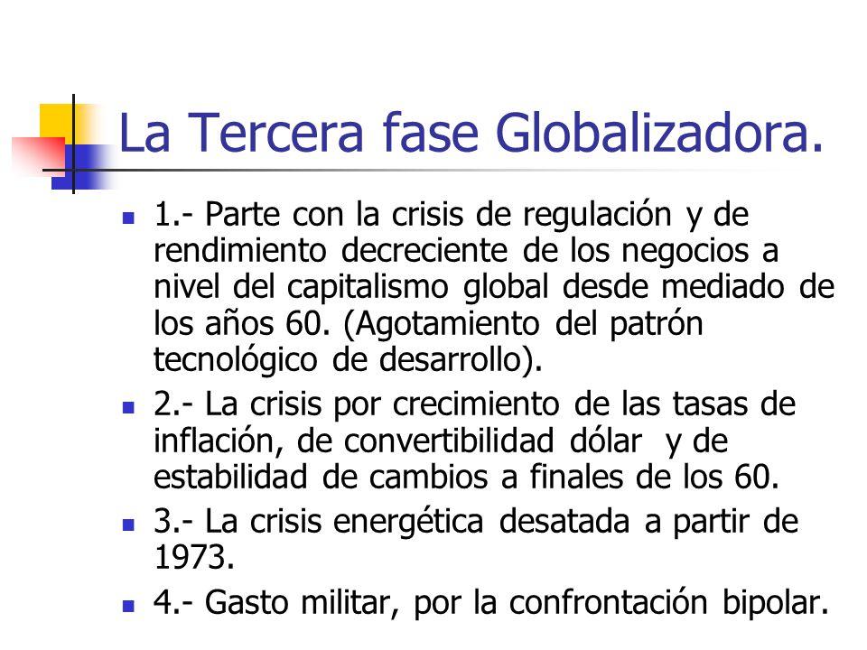 La Tercera fase Globalizadora.