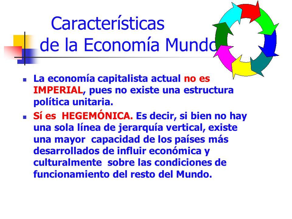 Características de la Economía Mundo