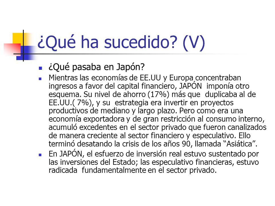 ¿Qué ha sucedido (V) ¿Qué pasaba en Japón