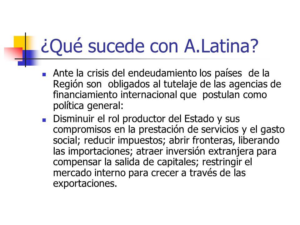 ¿Qué sucede con A.Latina