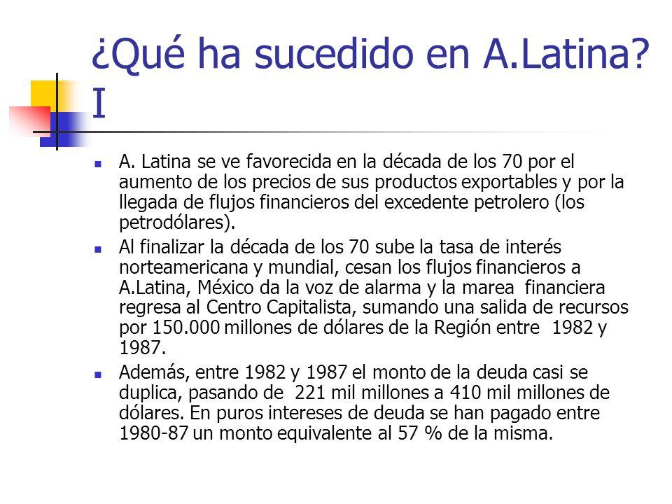 ¿Qué ha sucedido en A.Latina I
