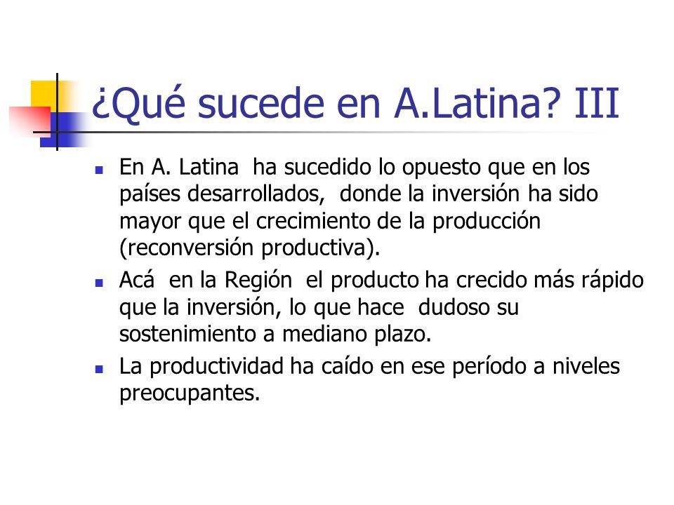 ¿Qué sucede en A.Latina III