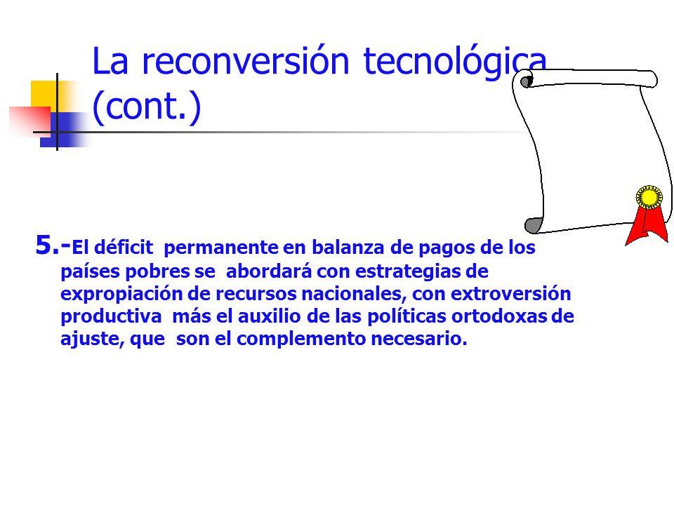 La reconversión tecnológica (cont.)