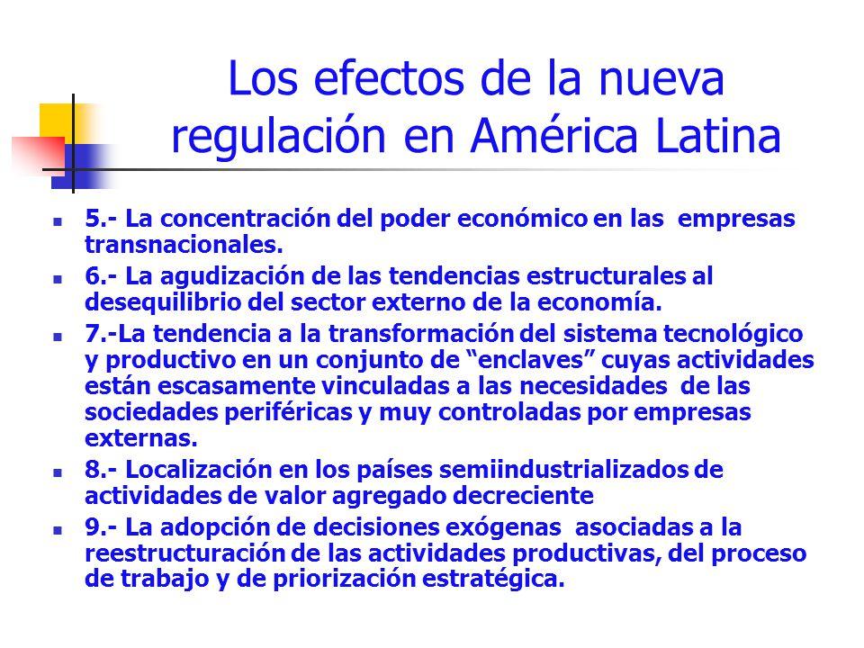 Los efectos de la nueva regulación en América Latina