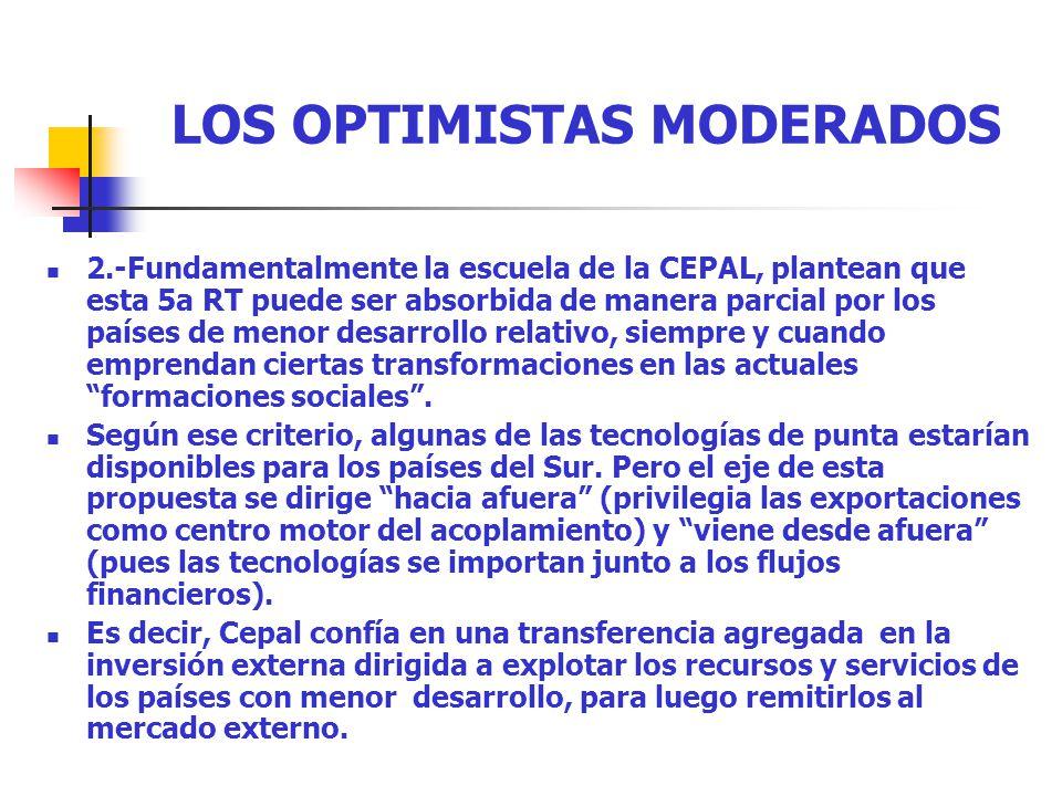 LOS OPTIMISTAS MODERADOS