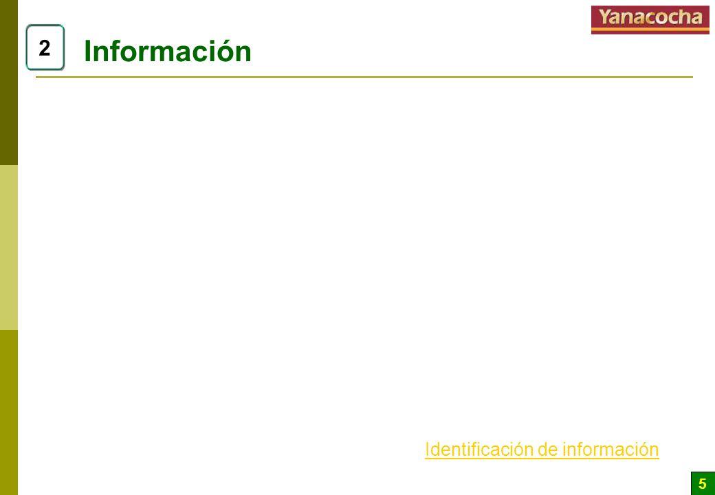 Información 2 Identificación de información