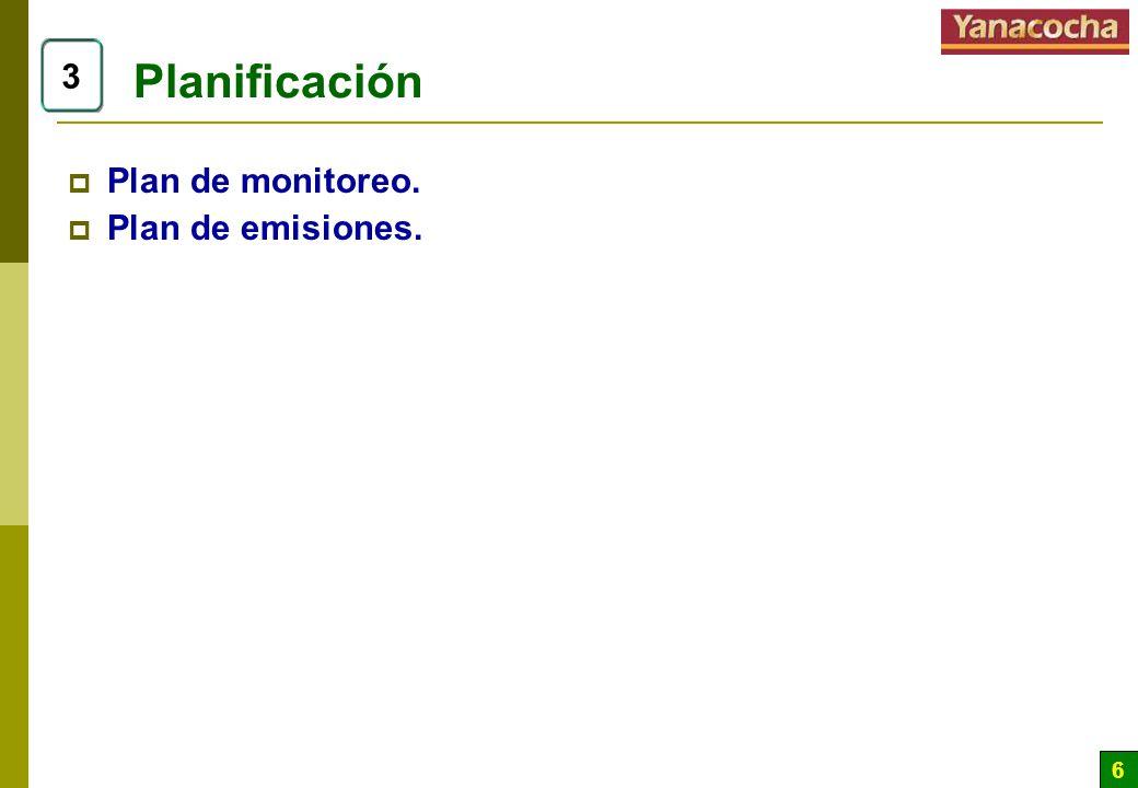 Planificación 3 Plan de monitoreo. Plan de emisiones.