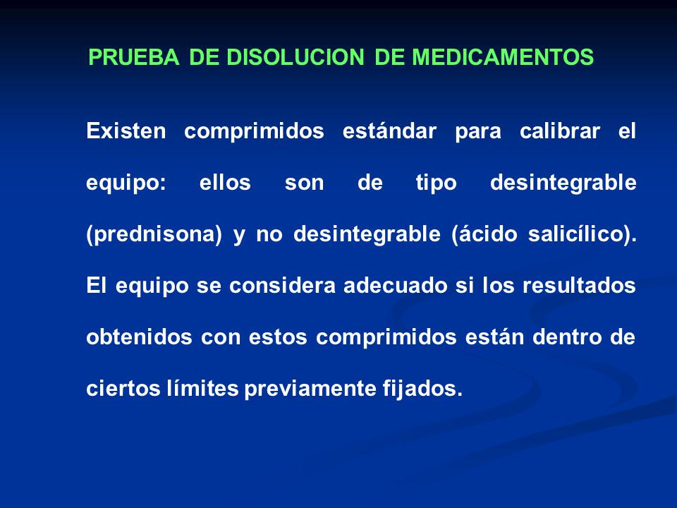 PRUEBA DE DISOLUCION DE MEDICAMENTOS
