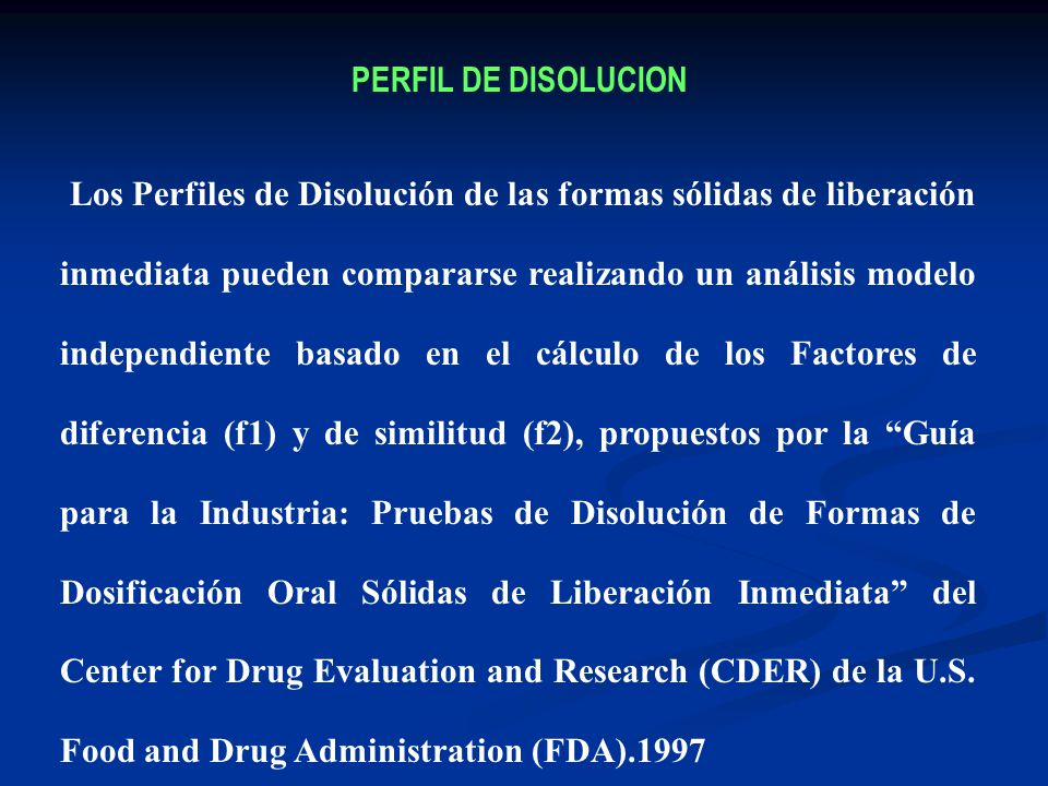 PERFIL DE DISOLUCION