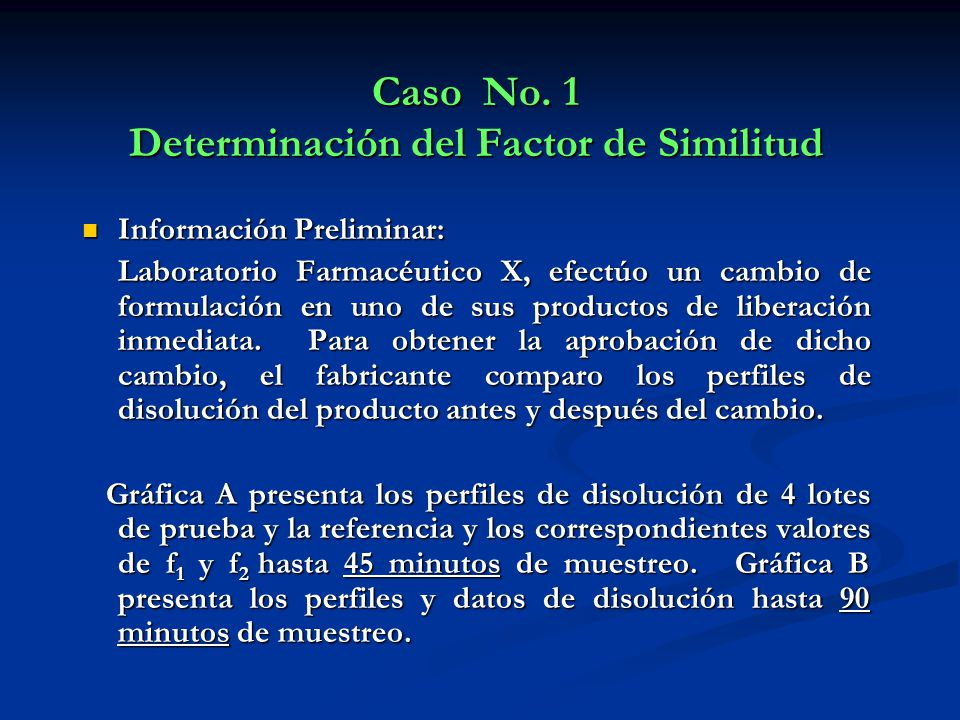 Caso No. 1 Determinación del Factor de Similitud