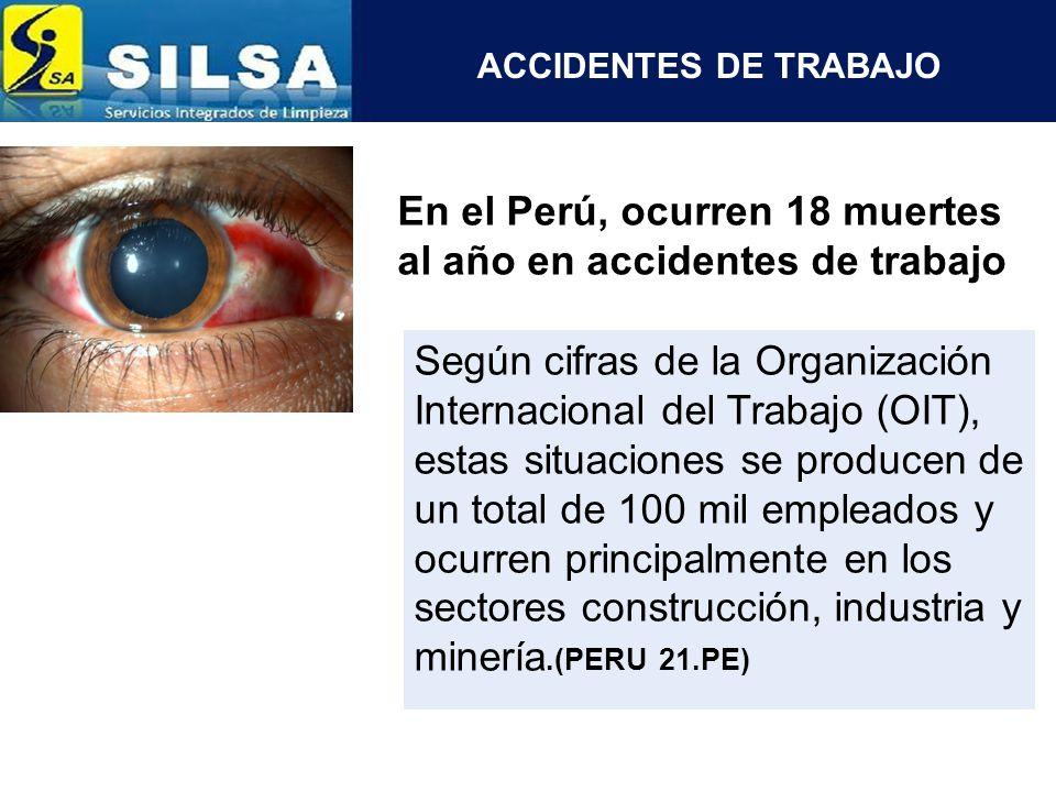 En el Perú, ocurren 18 muertes al año en accidentes de trabajo