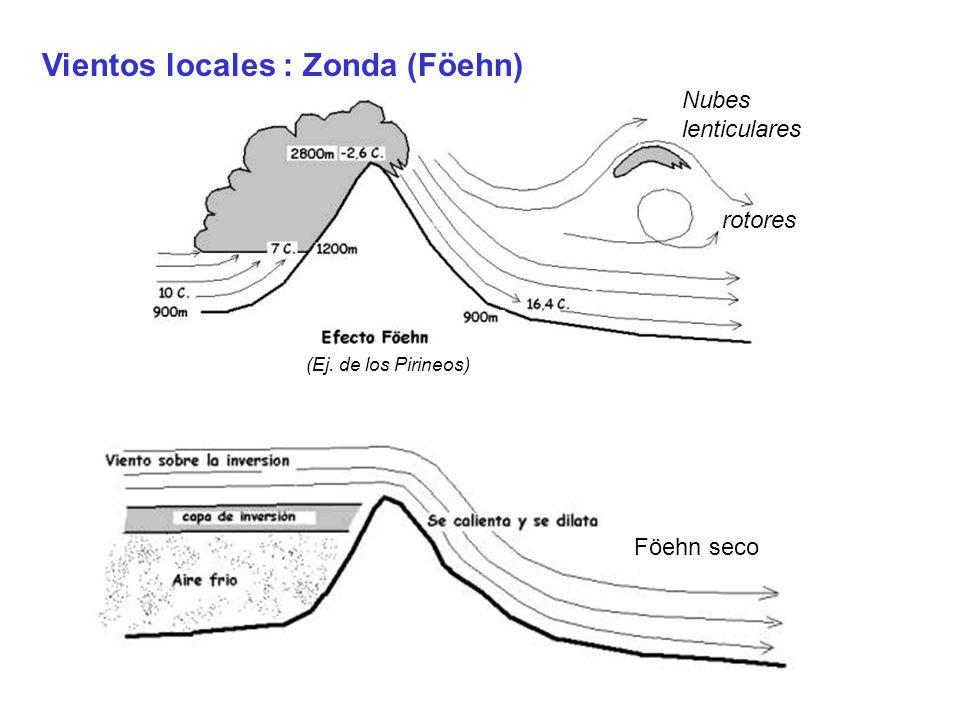 Vientos locales : Zonda (Föehn)