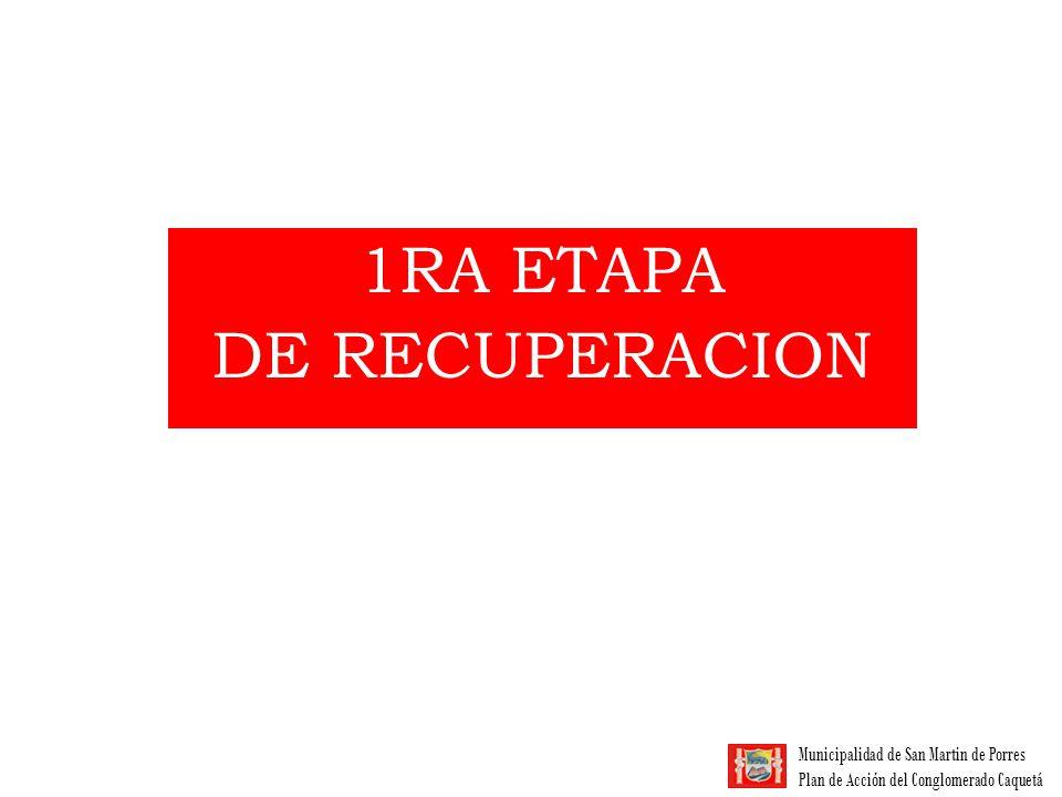 1RA ETAPA DE RECUPERACION