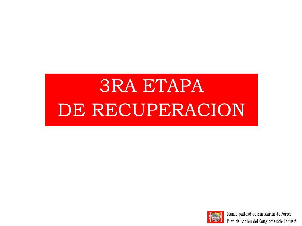 3RA ETAPA DE RECUPERACION